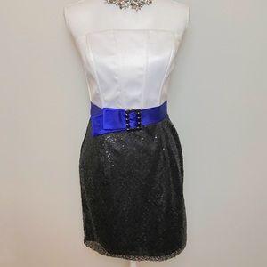 JESSICA MCCLINTOCK Gunne sax sequined mini dress